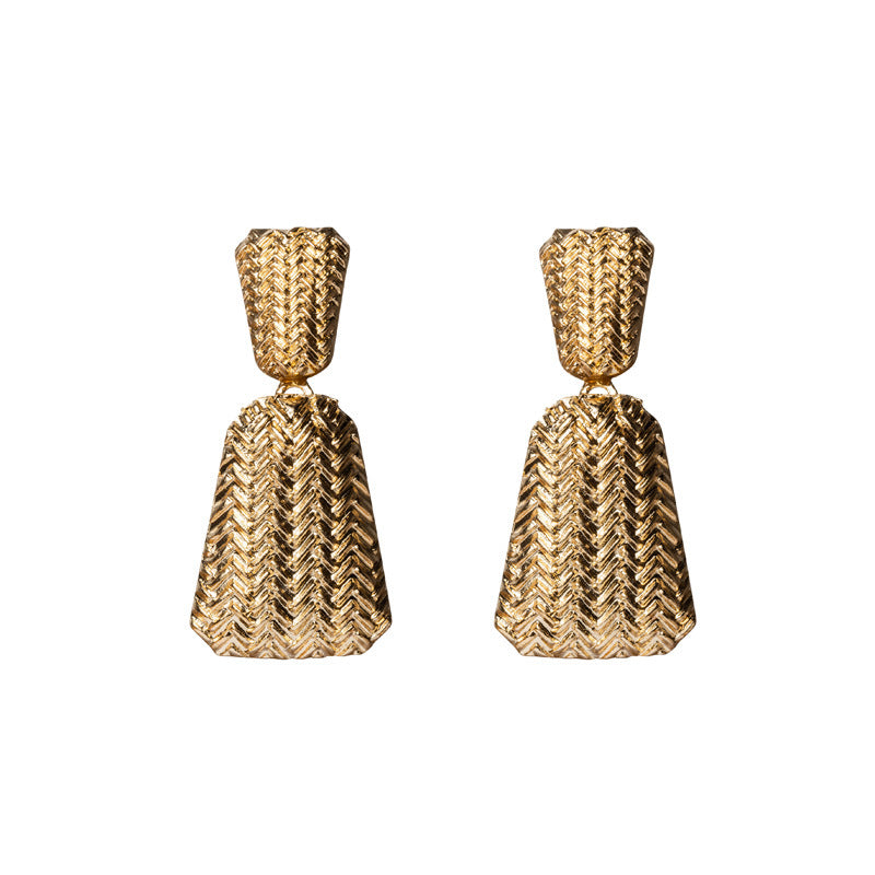 Ribbed Statement Earrings