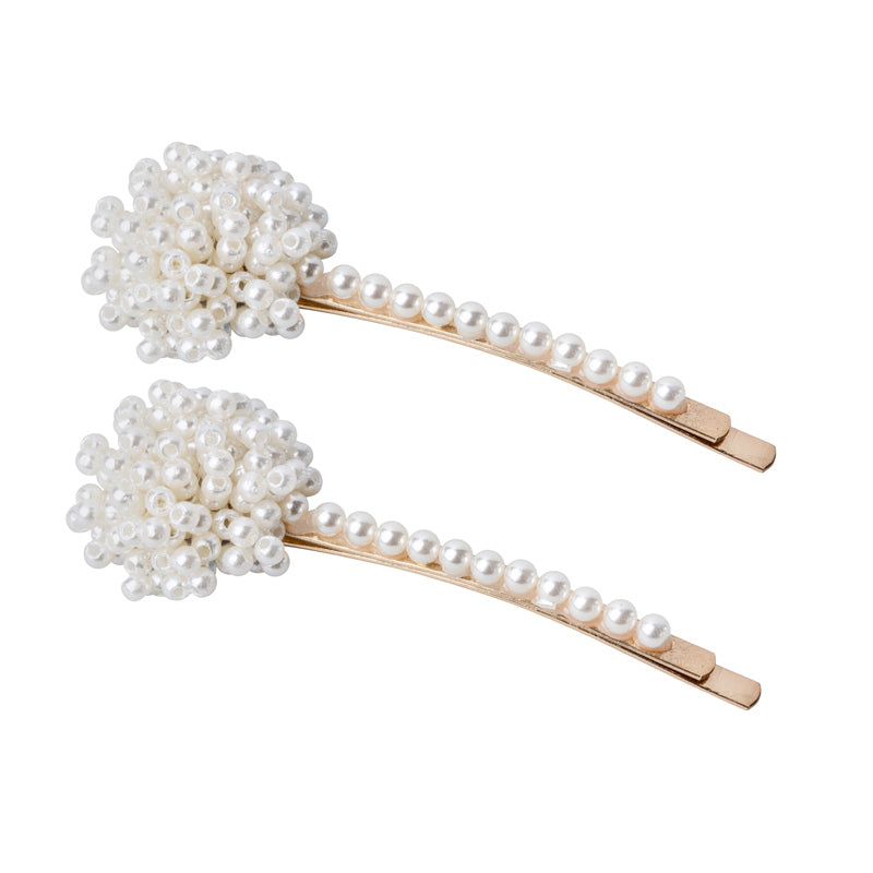 Pearl Cluster Hair Clips/ Set of Two