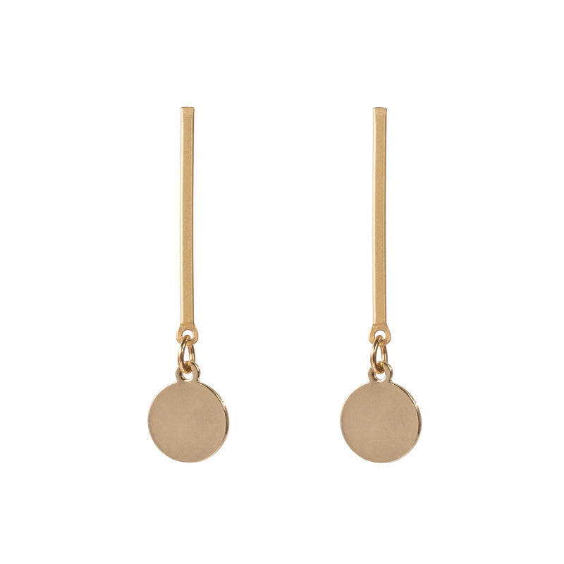 Matt Gold Paddle Earrings