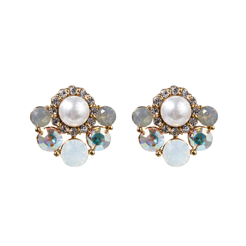 Opal Swarovski Fan Earrings