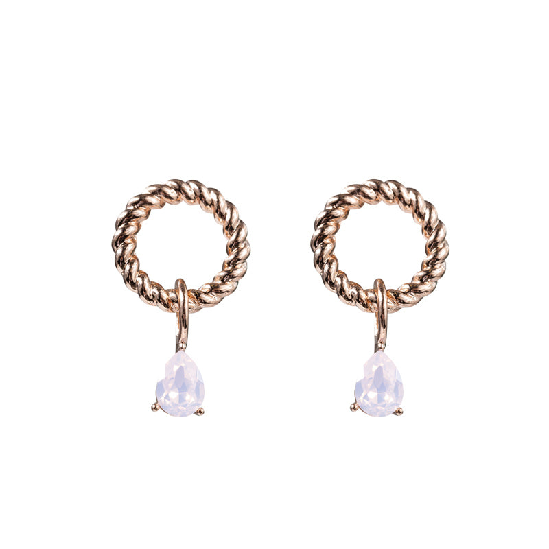 Looped Teardrop Stud