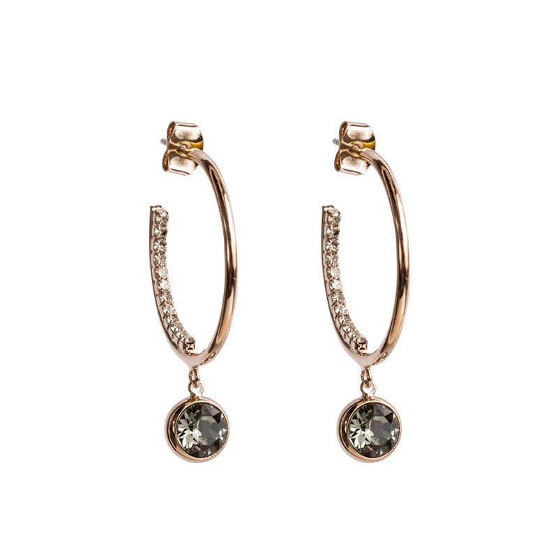 Smoke Studded Hoop Earrings