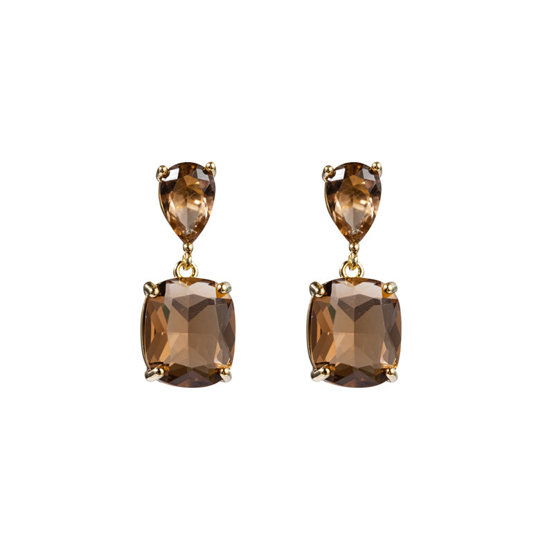 Crystal Cut Glass Earrings