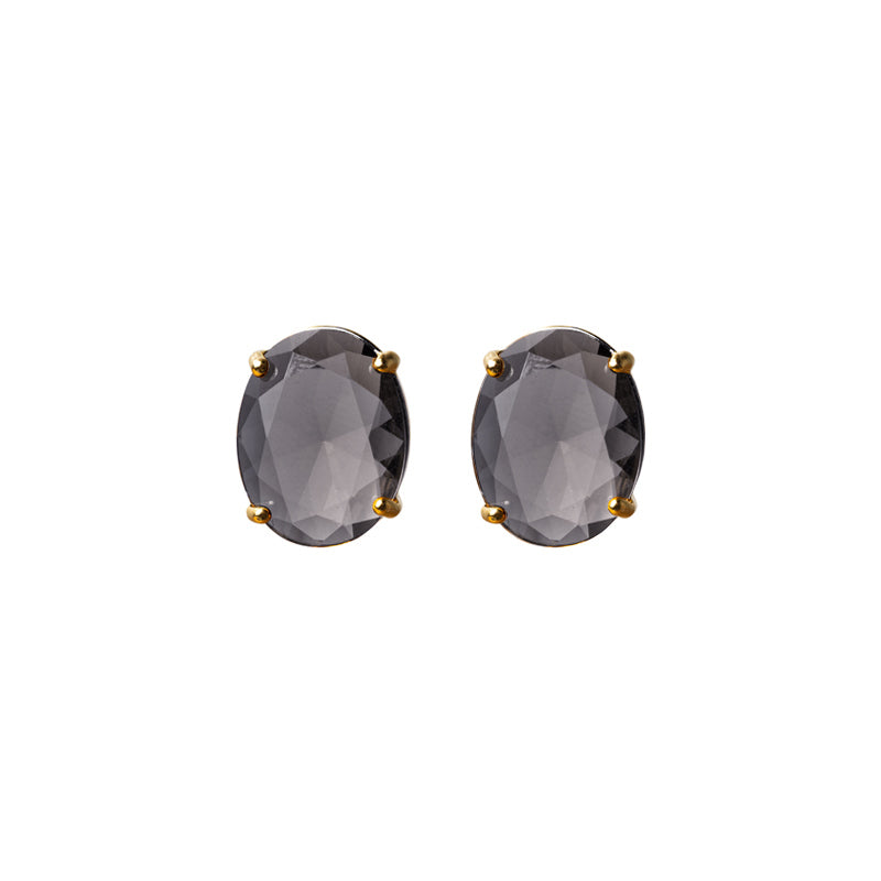 Topaz Cut Glass Studs