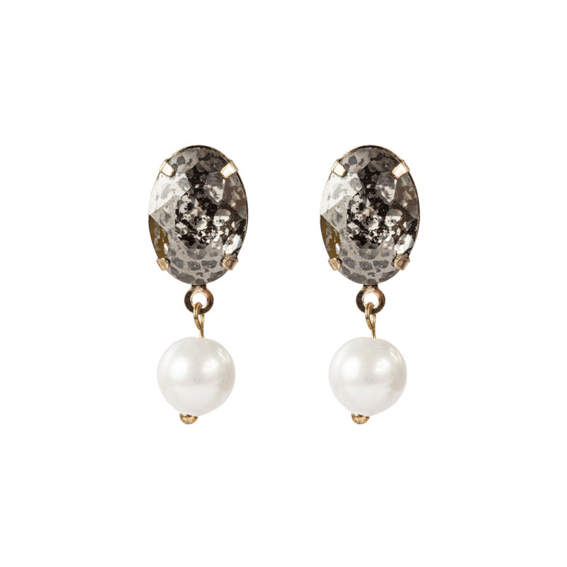 SPECKLED VINTAGE DROP EARRING