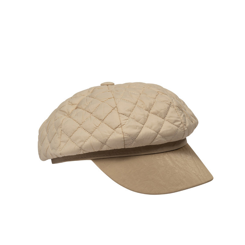 Quilted News Boy Hat