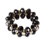 Gold & Black Stretch Bracelet