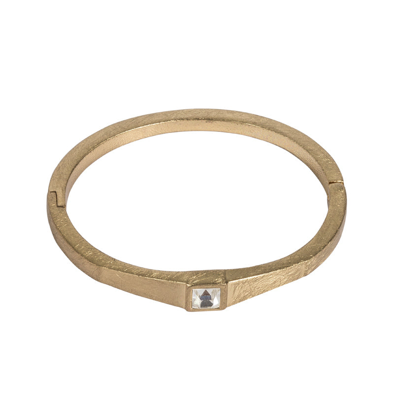 Brushed Gold Hinge Bracelet