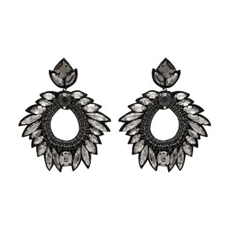 Deepa Gurnani Chantel Earrings in Black
