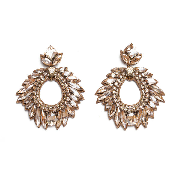 Deepa Gurnani Chantel Earrings in Gold