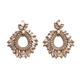 Deepa Gurnani Chantel Earrings in Gunmetal