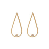 Matted Gold Tear Drop Earring