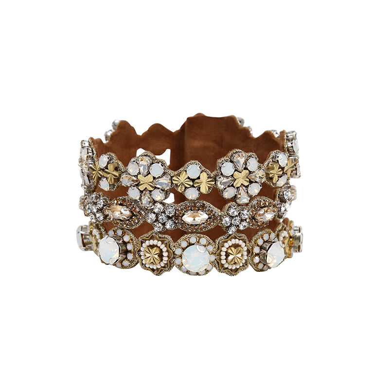 Deepa Gurnani Stacked Statement Cuff