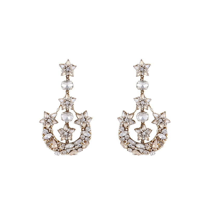 Deepa Gurnani Chandelier Earrings