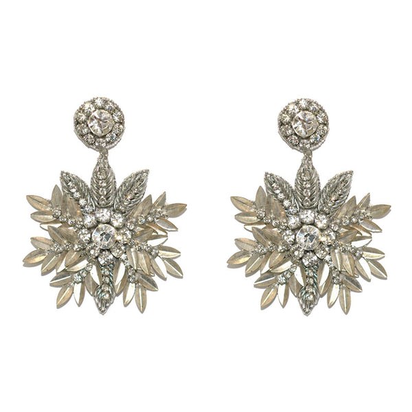 Deepa Gurnani Pandora Earrings in Silver