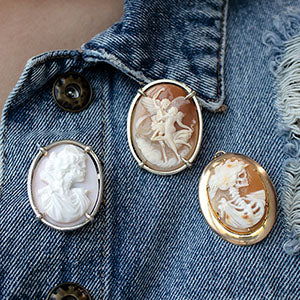 Re-imagined Cameo brooch