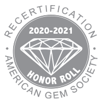 American Gem Society Recertification Honor Roll Logo