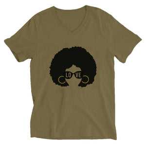 AfroGirl Personalized Short Sleeve V-Neck T-Shirt