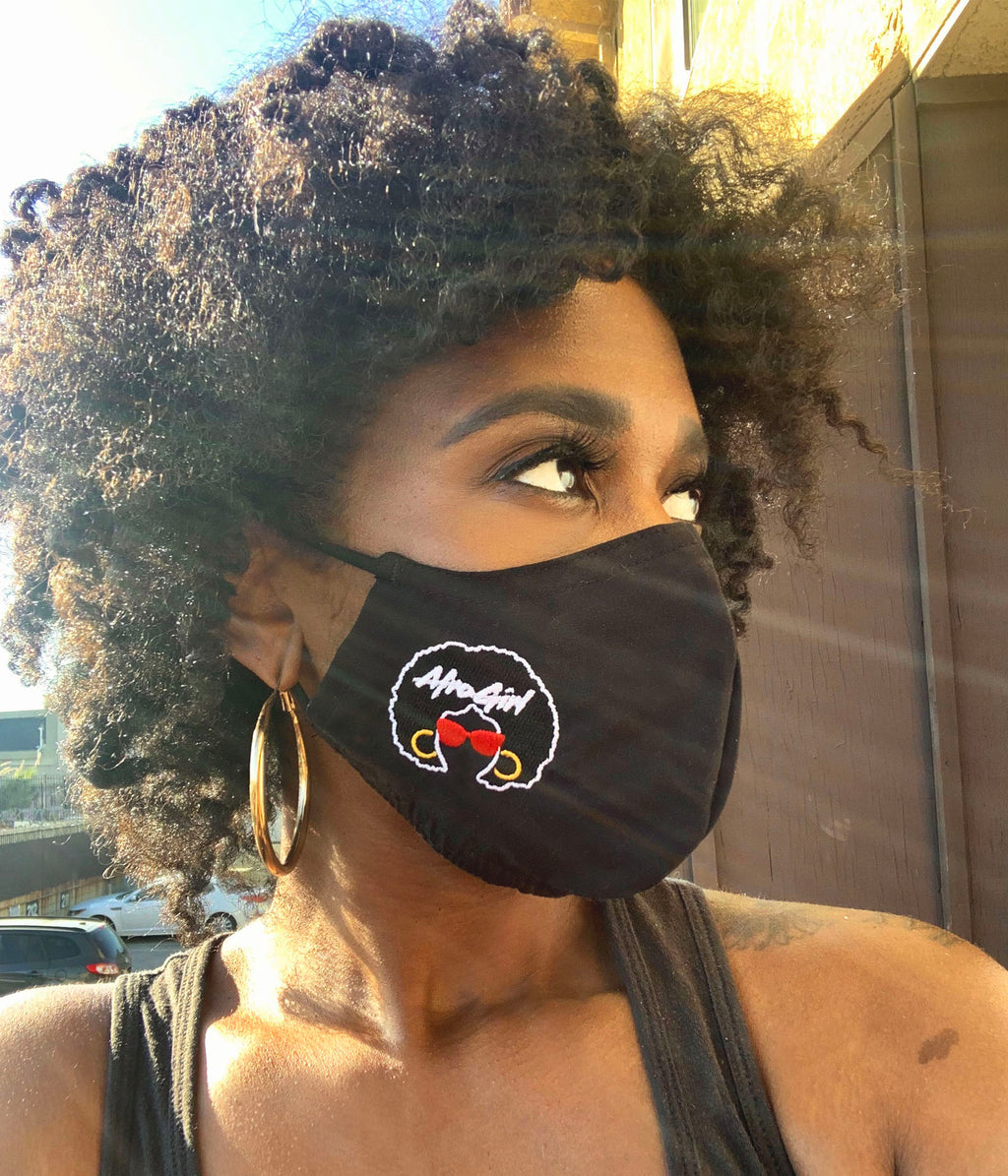 AfroGirl Embroidered Face Mask