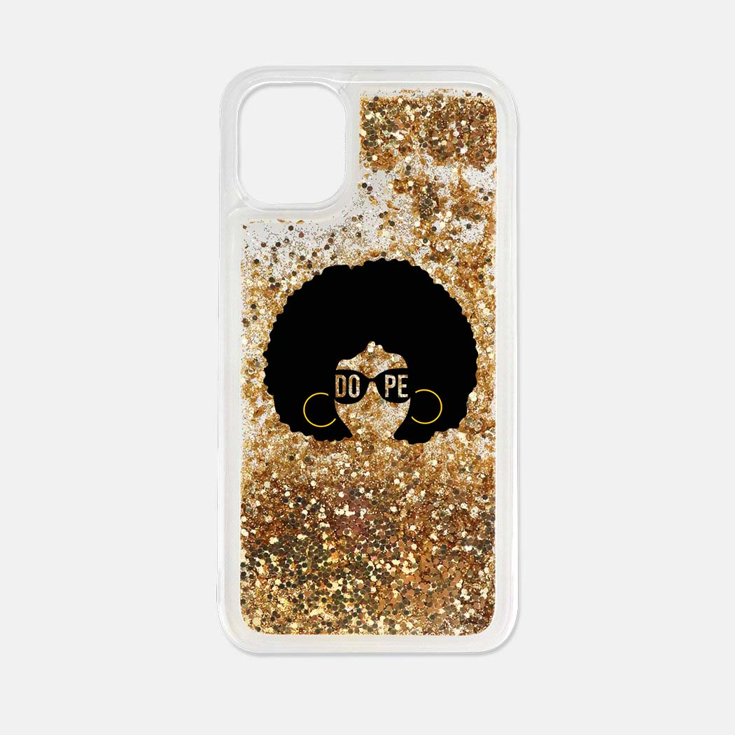 AfroGirl Liquid Glitter Phone Case