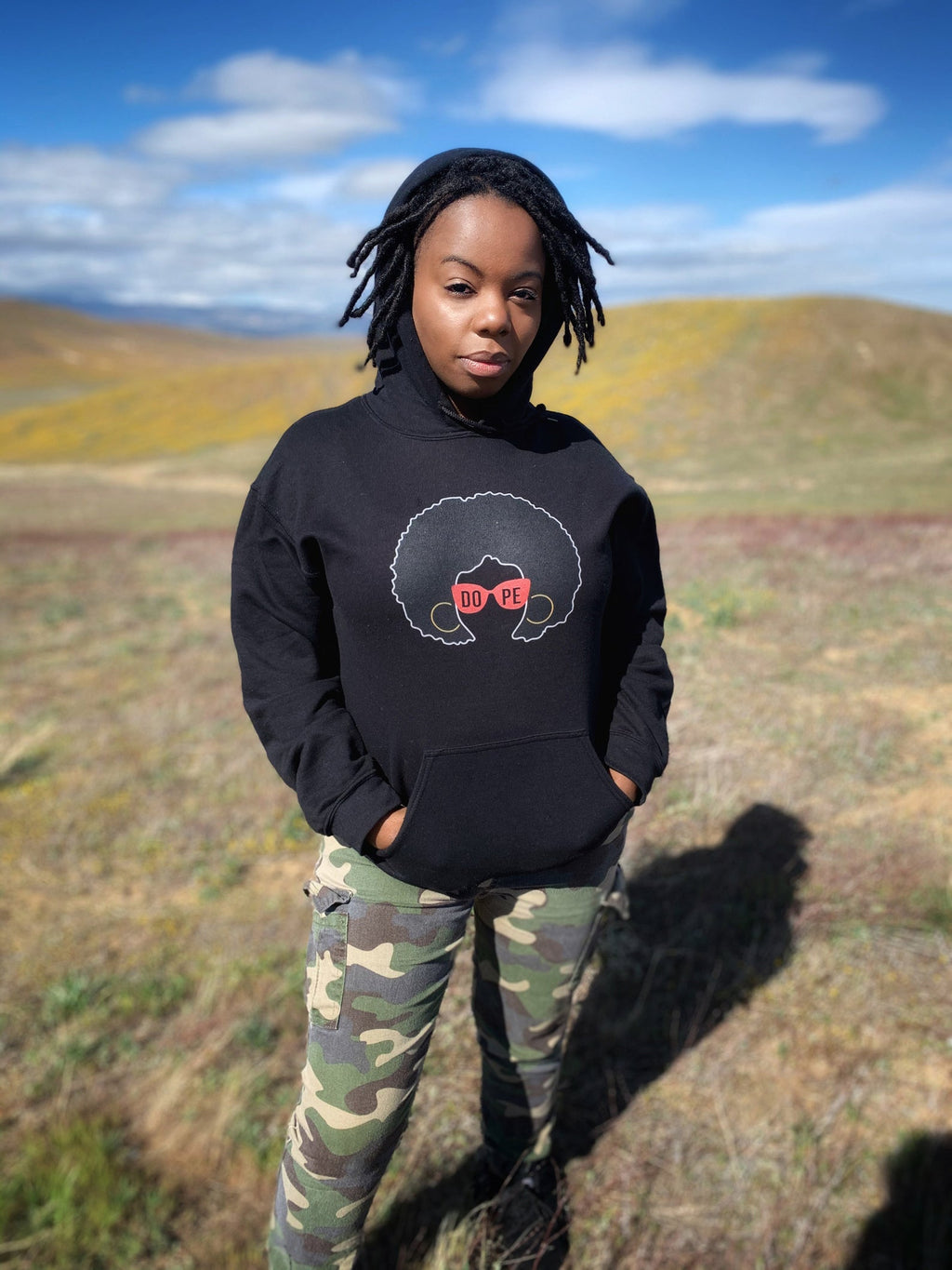 AfroGirl Red Shades Hoodie