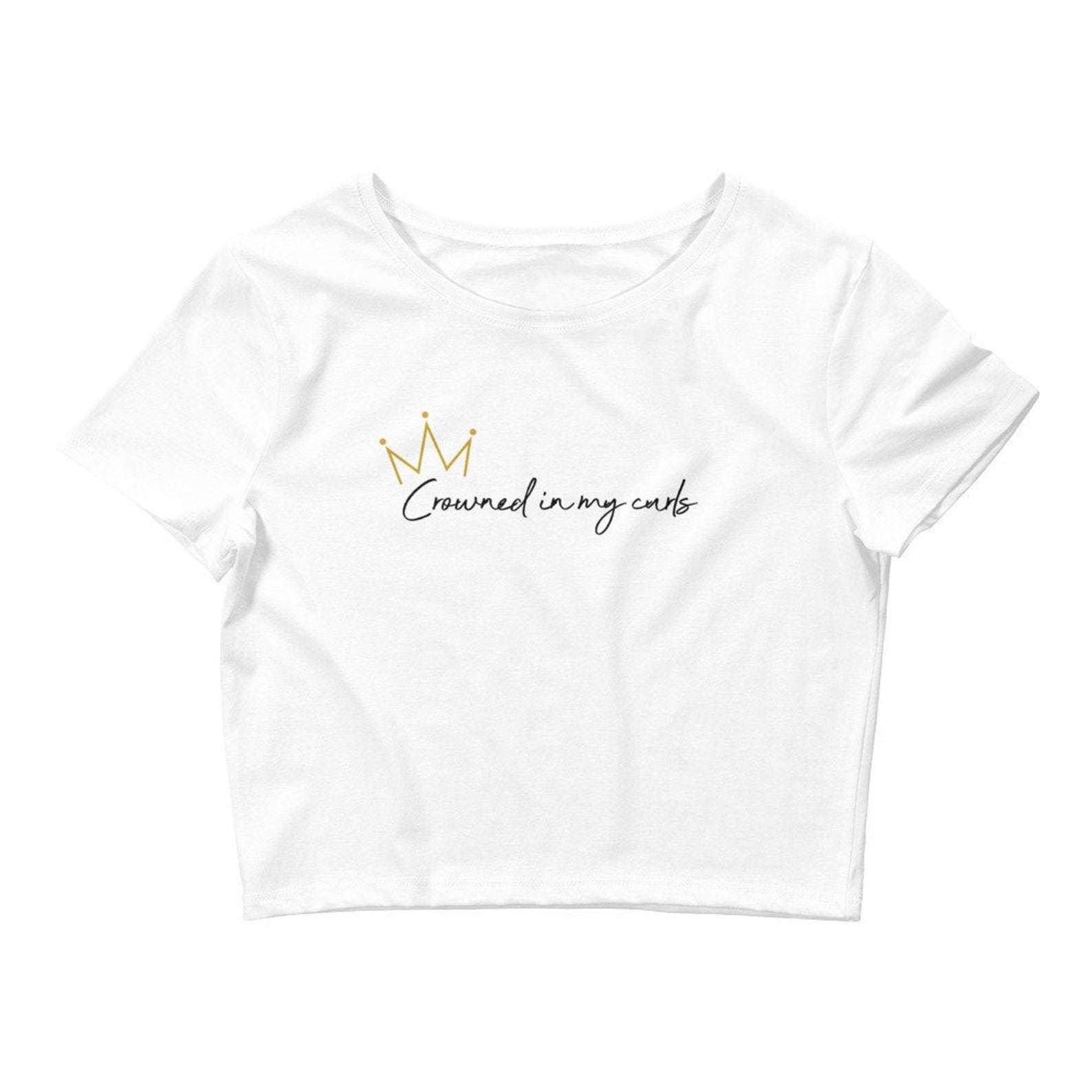 Crowned in my Curls Crop Tee
