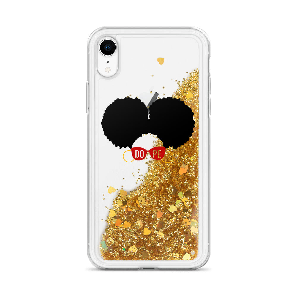 AfroPuff Girl Liquid Glitter Phone Case