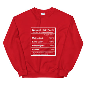 Natural Hair Facts Unisex Sweatshirt