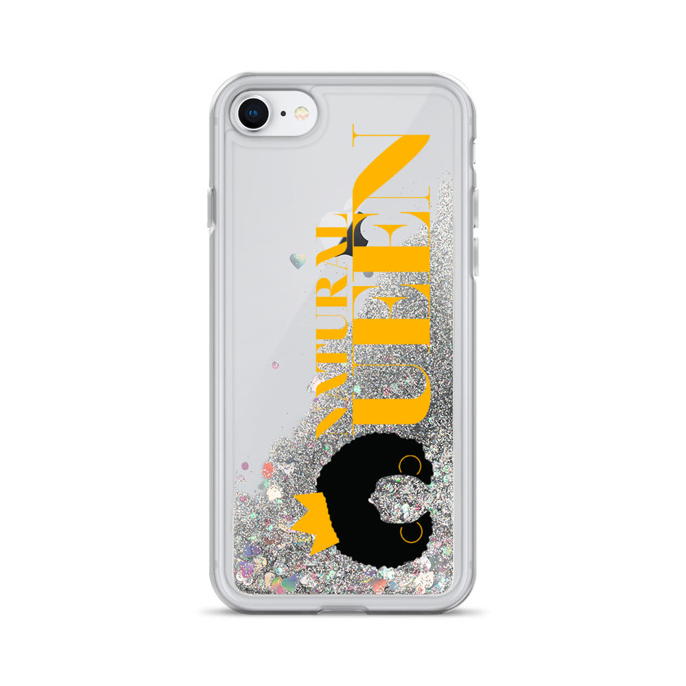 Natural Queen Liquid Glitter Phone Case