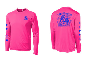 Long Sleeve Pink and Blue Shirt