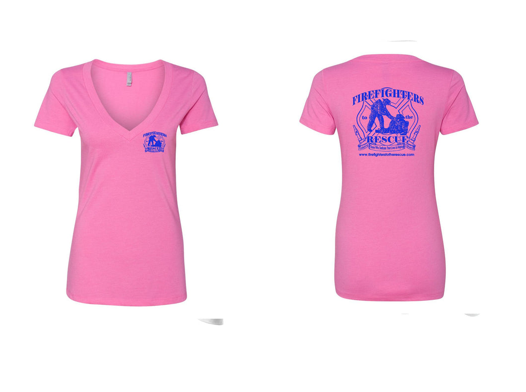 Short Sleeve Pink and Blue Shirt (these run small)