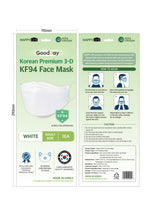 Load image into Gallery viewer, MASK MEDICAL KF94 FACE MASKm 10PC/Bundle