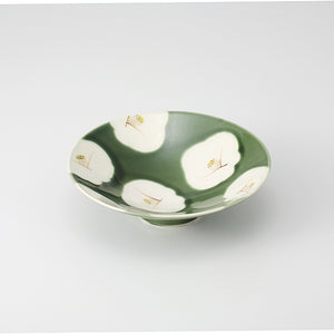 ORIBE White Flower Bowl (織部椿 平小鉢)
