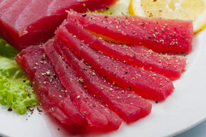 Fresh Bluefin Tuna Steak Cut SUSHI QUALITY 1 LB