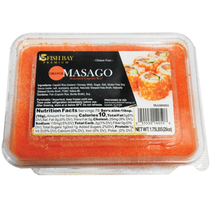 Frozen Orange Masago (Capelin Roe) 1.75 LB