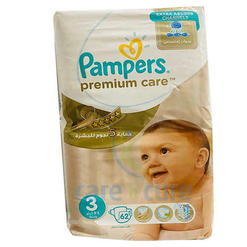 Pampers Premium Care S3 (5-9Kg) 2 X 62S Ps176
