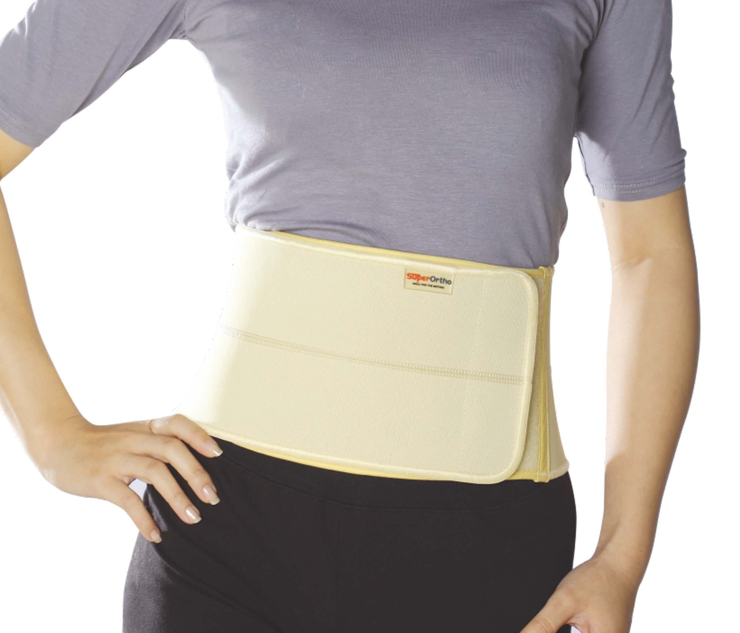 "Super Ortho 2 Panels Abdominal Binder B5- 001 (XL-37""~ 43"")"
