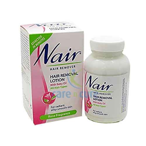 Nair Hair Remover Lotion Rose Jar 120 Ml Care N Cure Pharmacy Qatar