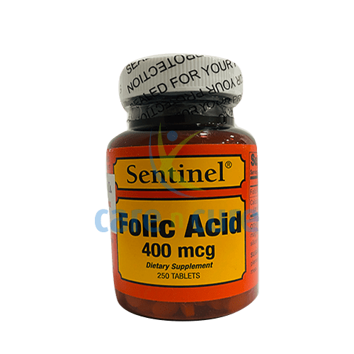 Sentinel Folic Acid 400Mcg Tablets 250S