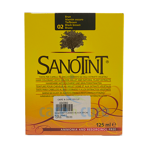 Sanotint Classic Black Brown 02 125ml