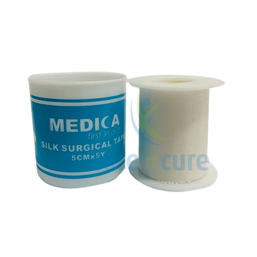 Medica Silk Surgical Tape 5cm X 5Y With Cover