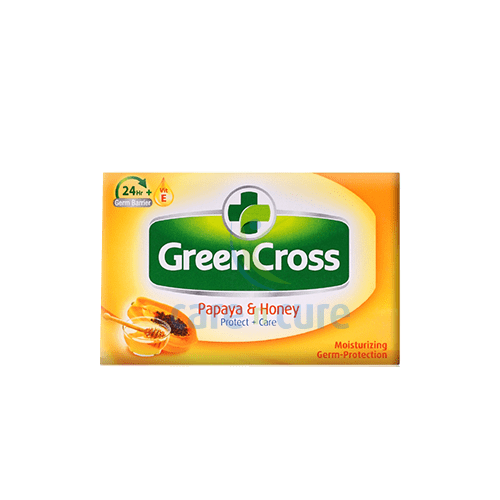 buy-green-cross-moist-soap-papaya-&-honey-125g-#5312-care-n-cure-pharmacy-qatar