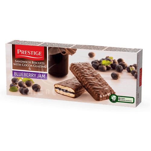 Prestige Sandwich Biscuits With Blueberry Jam 200gm