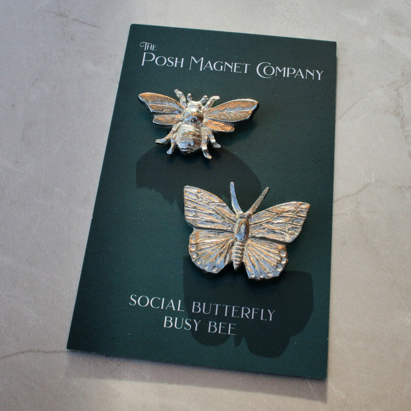 Social Butterfly & Busy Bee Magnets