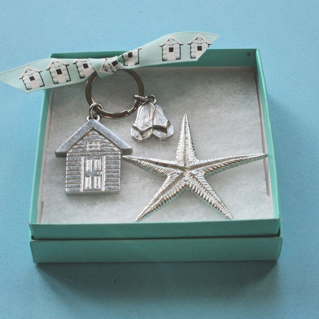 Boxed Gift Set - Keyring & Starfish