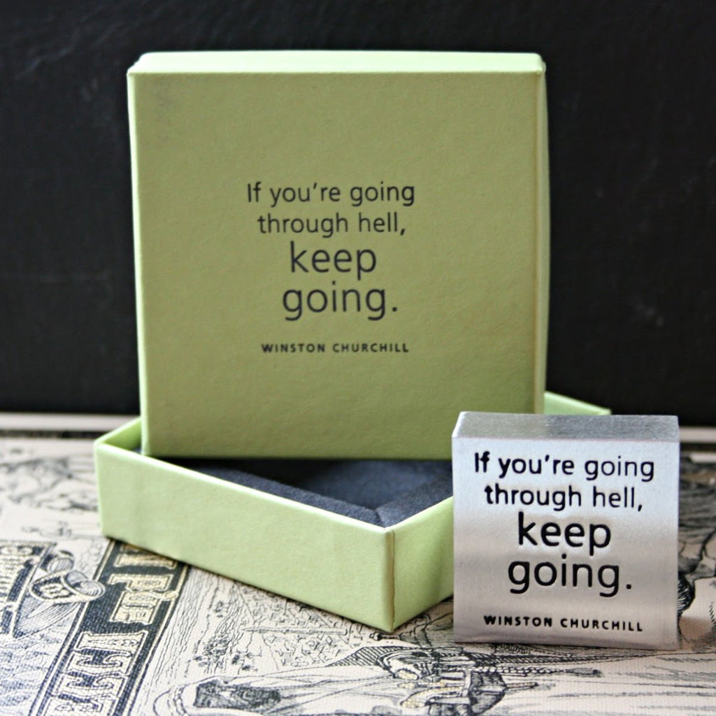 Keep Going Paperweight