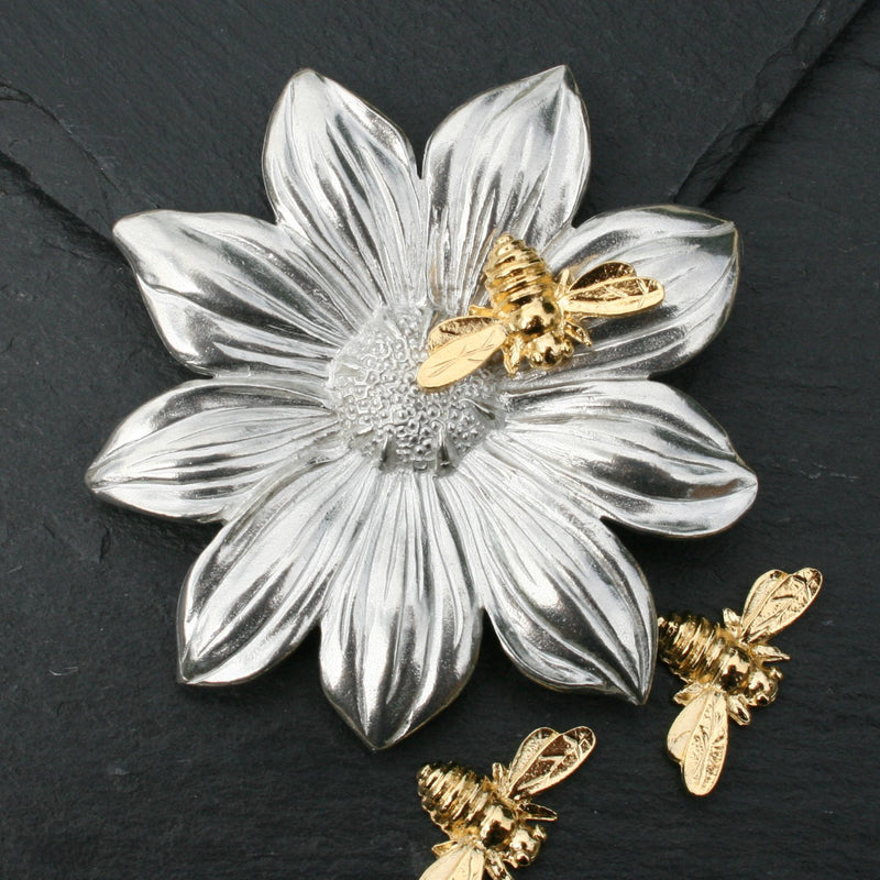 Flower Trinket with Bees