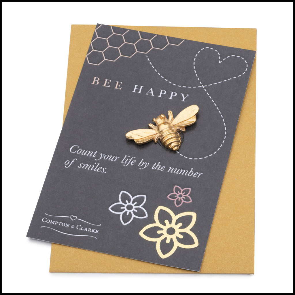 Bee Happy Pocket Charm