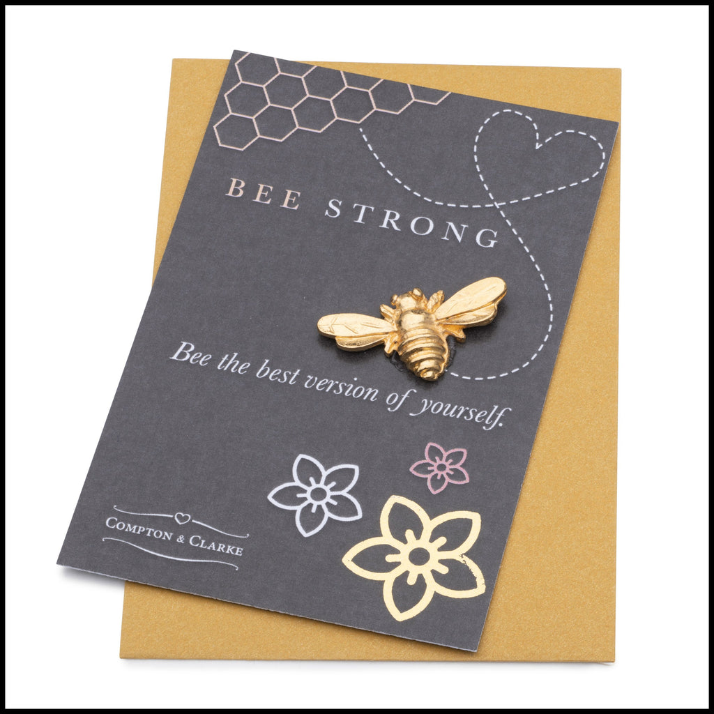 Bee Strong Pocket Charm