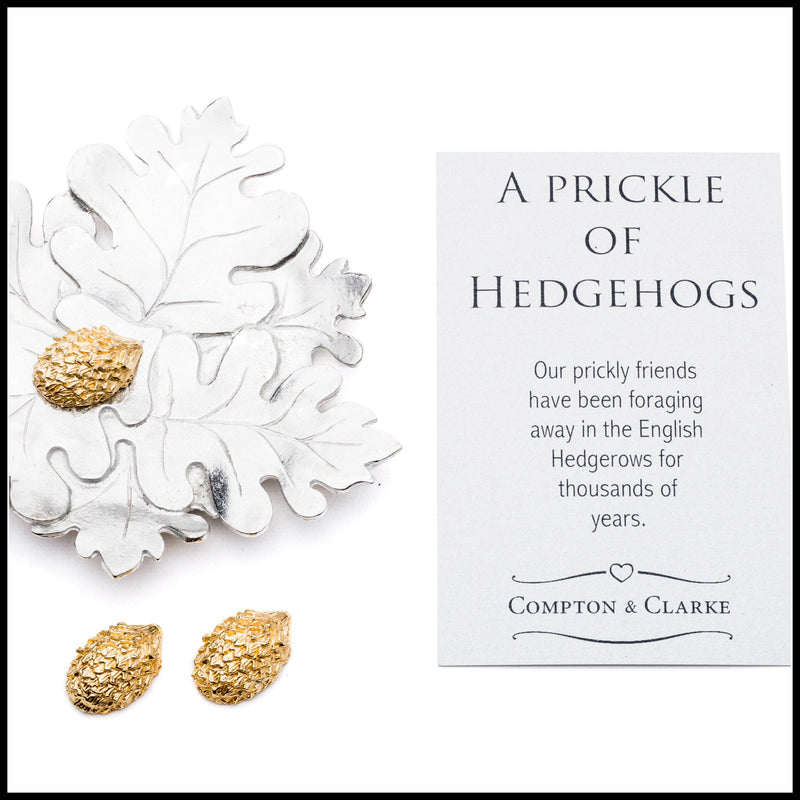 Oak Leaf & Hedgehog Trinket